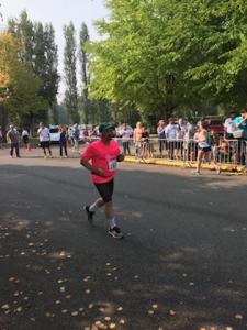 Hayley's shot of me heading to the finish line