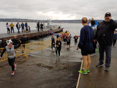Two-thirds of all participants do the plunge into Lake Washington